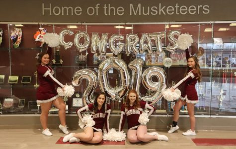 RBHS Boys' Basketball, Cheerleader, and Band Members Celebrate Senior Night