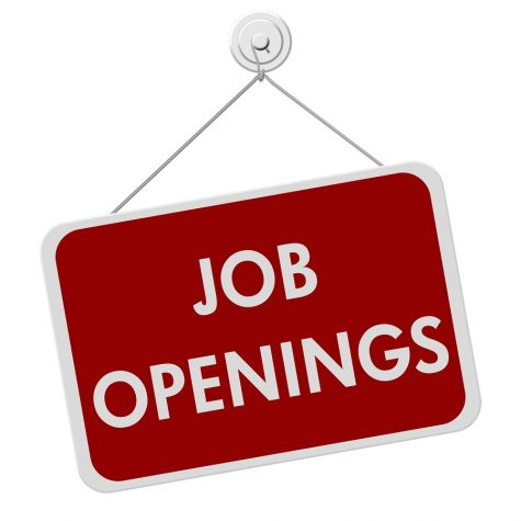 AA red and white sign with the word Job Openings isolated on a white background Job Openings