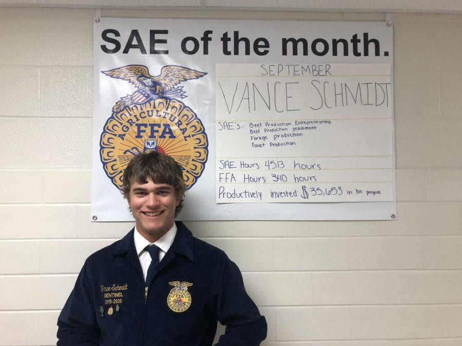 Vance Schmidt is SAE of September